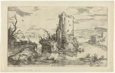Landschap met ruïne; Landschappen
