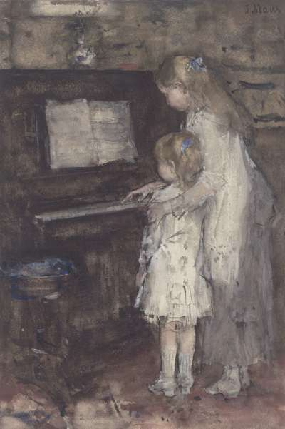 Image from object titled Two Girls at the Piano