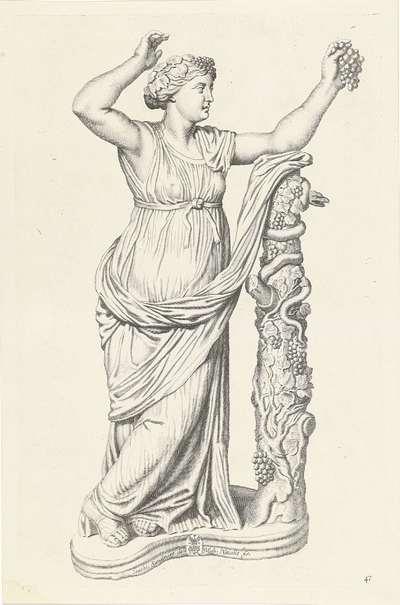 Standbeeld van een bacchante; Galleria Giustiniana del Marchese Vincenzo Giustiniani I