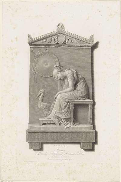 Grafmonument voor Frederik, prins van Oranje-Nassau, 1799; Memoriae Abundij Rezzonici Senatoris Urbis (...)