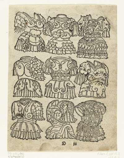 Negen borstkurassen; Latere editie van Ein frembds und wunderbares kunstbüchlin (...)