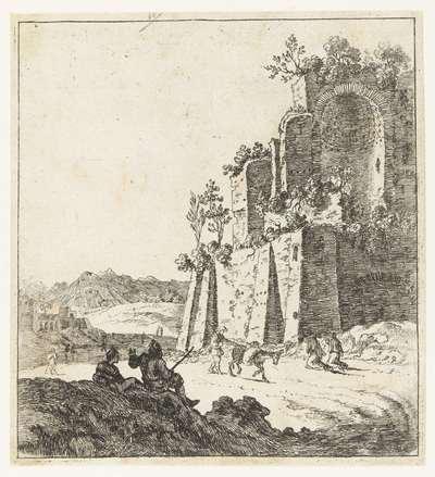 Image from object titled Ruïnes van de tempel van de Zon en de Maan bij het Colosseum