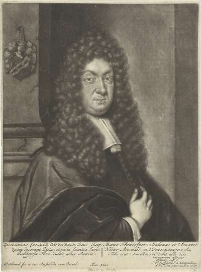 Portret van Zacharias Konrad Uffenbach