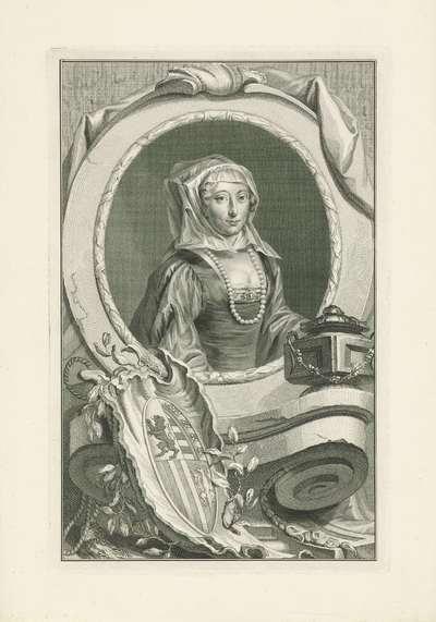 Portret van Anna van Saksen; Gemalinnen en moeders der stadhouderen