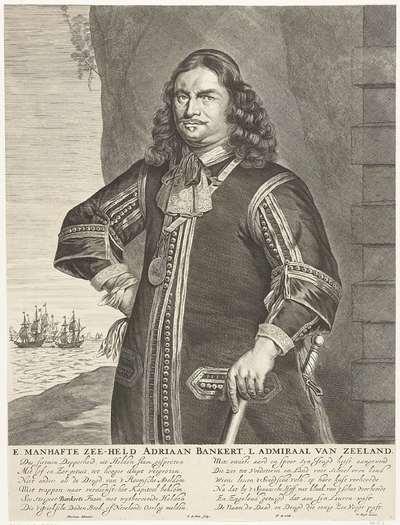Portret van luitenant-admiraal Adriaen Banckert