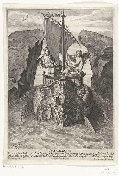 Image from object titled Argonauten passeren de Symplegaden; Symplegades