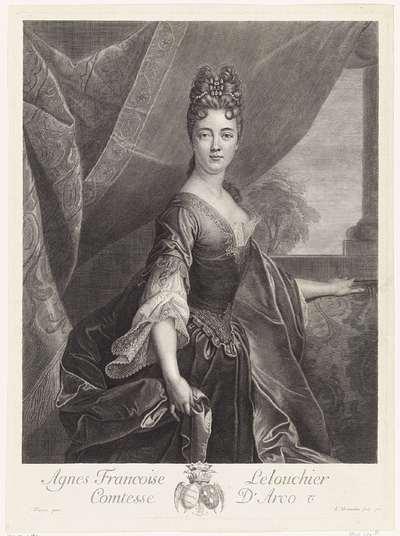 Portret van Agnès Françoise Lelouchier