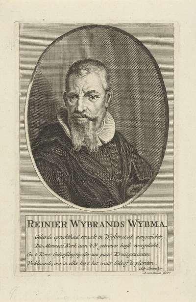 Portret van Reinier Wybrands Wybma