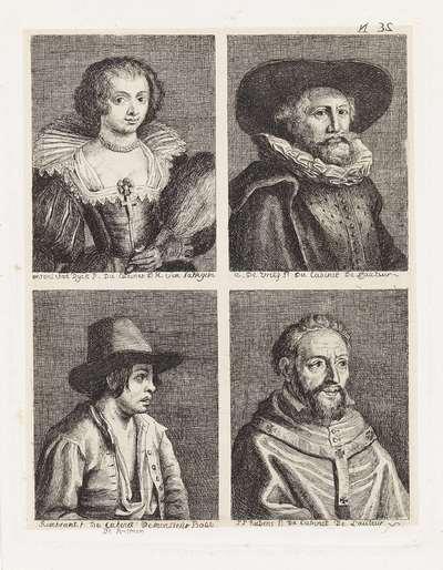 Vier portretten