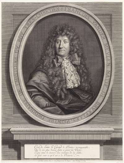 Portret van Adam Frans van der Meulen