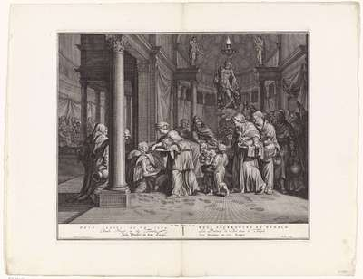 Bels priesters in de tempel