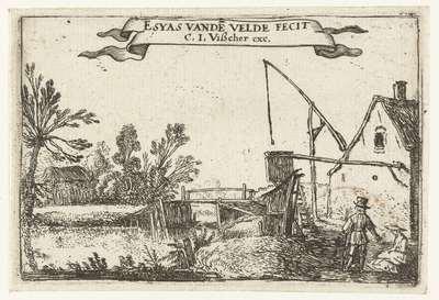Boerderij bij een kanaal; Kleine landschappen