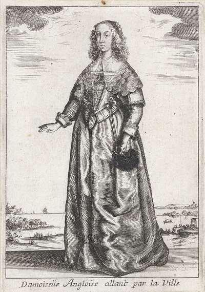 Damoiselle Angloise allant par la Ville; Vrouwen in klederdracht; Livre Curieux