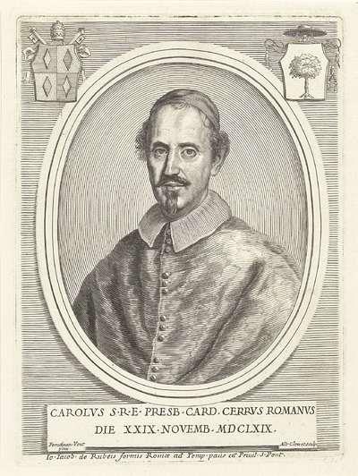 Portret van kardinaal Carlo Cerri; Effigies Cardinalium nunc viventium