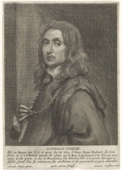 Portret van de schilder Gonzales Coques