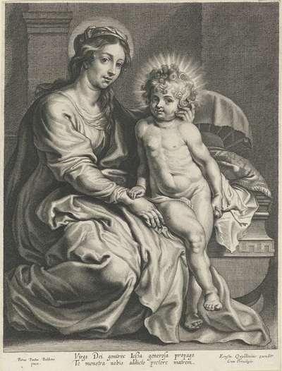 Maria met Christuskind bij wieg