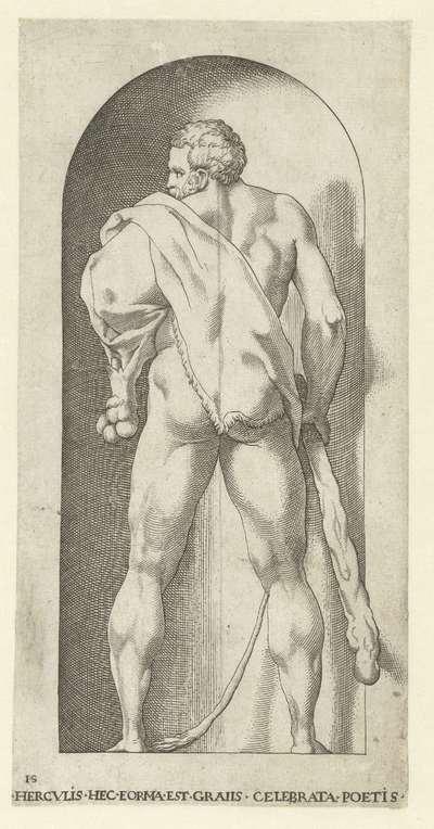 Hercules met knots en huid van een leeuw; Goden en Godinnen