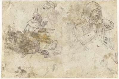 Mozes en een treurende Maria of Maria Magdalena