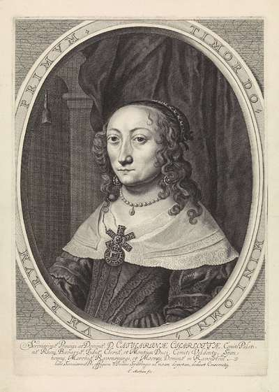 Portret van Catherina Charlotta, paltsgravin van Palts-Neuburg