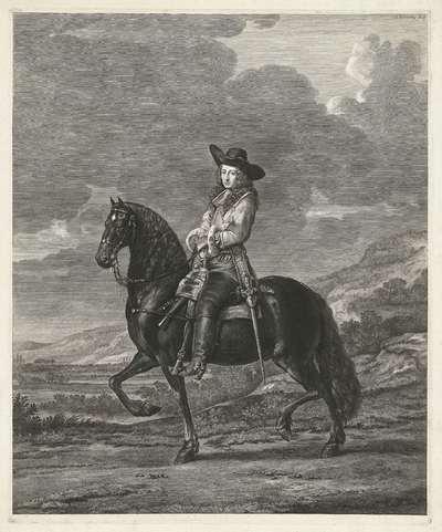 Ruiterportret van Pieter Schout drost van Hagestein