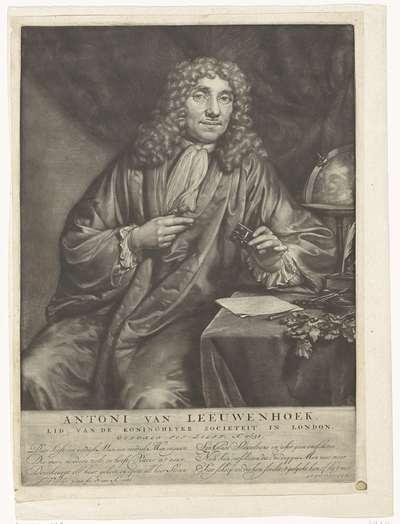 Portret van Anthony van Leeuwenhoek