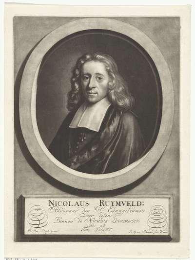 Portret van de predikant Nicolaus Ruymvelt