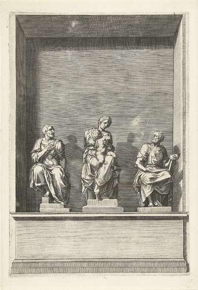 Maria met Kind tussen de H. Cosmas en Damianus; Graftomben van de hertogen De Medici in de San Lorenzo in Florence