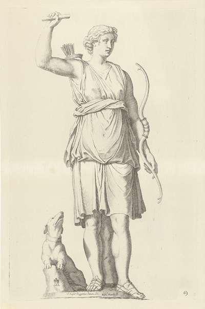 Standbeeld van Diana; Galleria Giustiniana del Marchese Vincenzo Giustiniani I