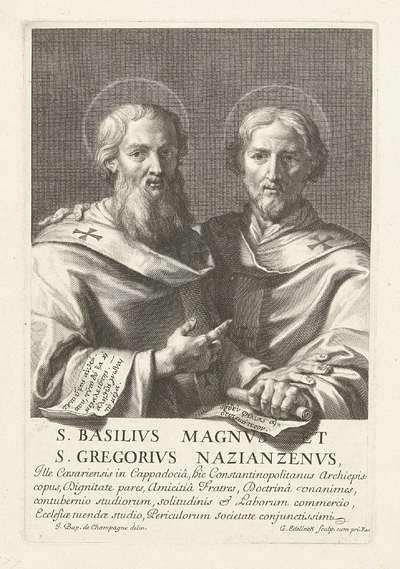 Heilige Basilius en de heilige Gregorius van Nazianze