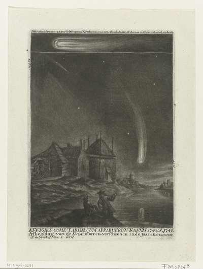 De staartsterren van 1742 en 1744; Effigies cometaruae qum apparuerunt annis 1742 & 1744 / Afbeelding van de Staartstarren, verscheenen in de jaaren 1742 en 1744