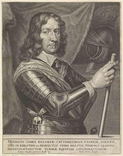 Portret van Hendrik, graaf van Nassau-Siegen