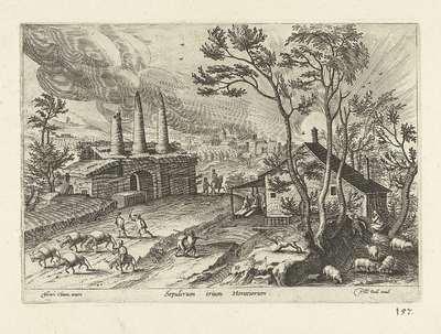Landschap met enkele ruïnes; Sepulcrum trium Horatiorum; Ruinarum varii prospectus