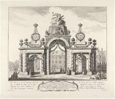 Erepoort op het Buitenhof te Den Haag, 1768