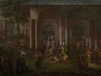 Image from object titled The Murder of Patrona Halil and his Fellow Rebels