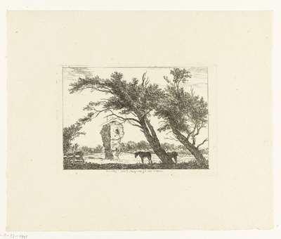 Overblijfselen van het huis van Gerard van Velsen; Overblijf. van t Huys van Gd. van Velsen; Verschijden Landschappen