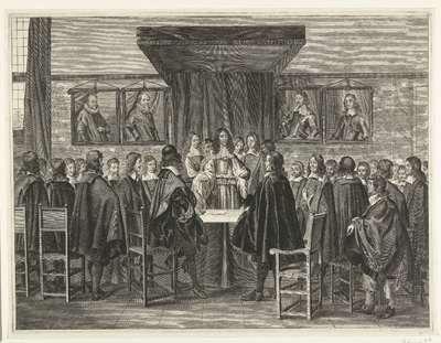 Koning Karel II van Engeland spreekt de staande leden van de Staten-Generaal toe, 1660