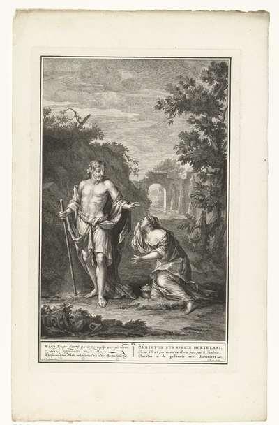 Christus verschijnt aan Maria Magdalena; Christus in de gedaente eens Hoveniers