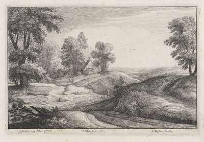 Landschap met een huis op een heuvel; Landschappen