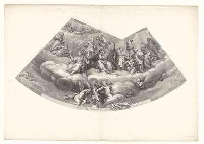 Plafondschilderingen in de koepel van de kerk Val-du-Grace: o.a. David en Mozes