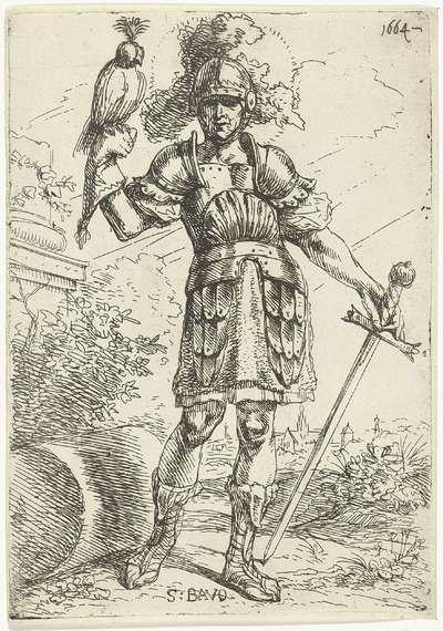 H. Bavo met valk op zijn hand