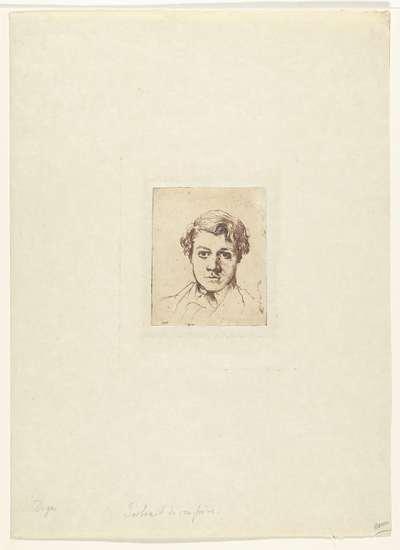 Portret van de broer van de kunstenaar René Degas; Frère de l'artiste René De Gas