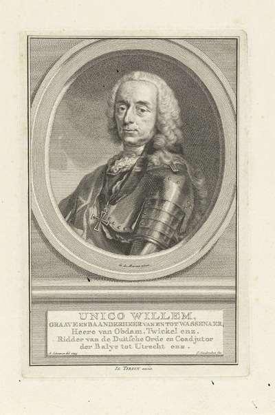 Portret van Unico Wilhelm van Wassenaer-Obdam; Unico Willem