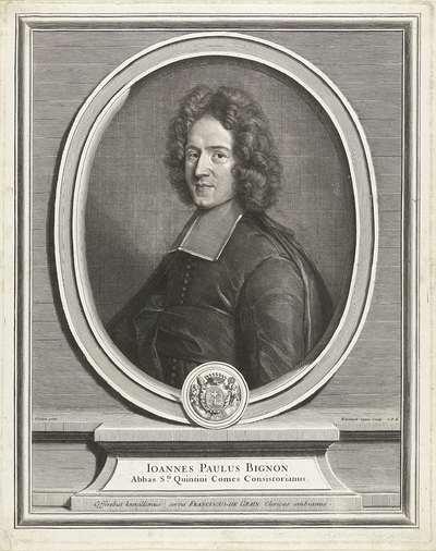 Portret van Jean Paul Bignon; Ioannes Paulus Bignon
