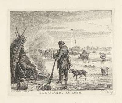 IJsgezicht nabij Sloten, 1624; Slooten, Ao 1624; Noord-Hollandse landschappen