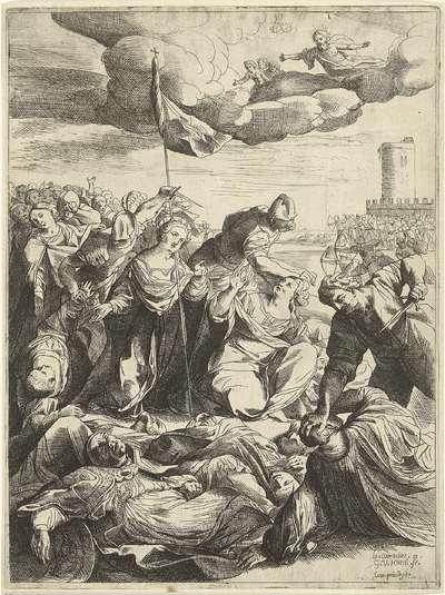 Heilige Ursula belegerd door de Hunnen