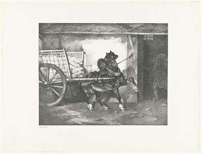 Het paard van de stukadoor; Le cheval du platrier; Verschillende studies van paarden; Etudes de chevaux