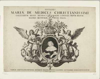 Intocht van Maria de Medicis te Amsterdam (portret), 1638; Effigies Mariae de Medices Christianissimi Galliarum Regis Henrici Magni conjugis, trium regum matris, hetruriae ducis filiiae