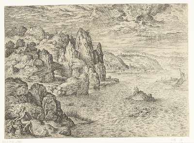 Coastal Landscape with Hero and Leander