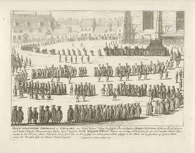 Lijkstatie van Maria Louise te Leeuwarden, 1765; Rouw-statelyke lykpragt, of uitvaart van Wylen Haare Hoog Vorstelijke Doorluchtigheit Maria Louisa, (...)