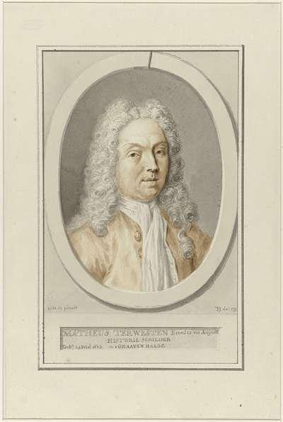 Portret van de schilder Mattheus Terwesten
